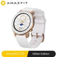 W magazynie Glitter Edition nowy Amazfit GTR 42mm inteligentny zegarek 5ATM Smartwatch 12 dni sterowanie muzyką baterii dla Xiaomi android ios