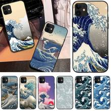 LJHYDFCNB Wave spray Soft Silicone TPU Phone Cover For iPhone 5C 6 6S 7 8 plus X XS XR XS MAX 11 11 pro 11 Pro Max ljhydfcnb wave spray cover soft shell phone case for iphone 6 6s plus 7 8 plus x xs xr xs max 11 11 pro 11 pro max cover