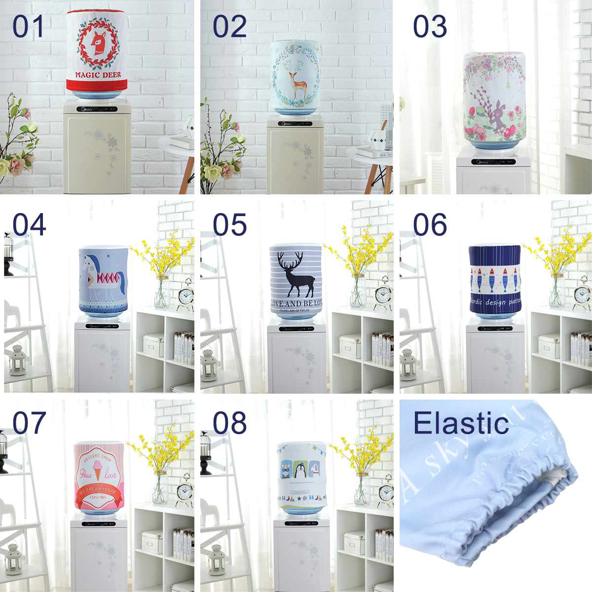 Dust Cover Water Bucket Dispenser Container Bottle Purifier protecter cloth Home Decoration Cute Buskets Covers Reusable
