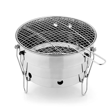Stainless Steel Barbecue Charcoal BBQ Grill Foldable Portable Cooking Outdoor Camping Burner For Home Patio Carbon Stove