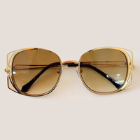 Metal Frame Square Sunglasses Women Fashion Brand Designer Vintage Mirror Sunglasses UV400