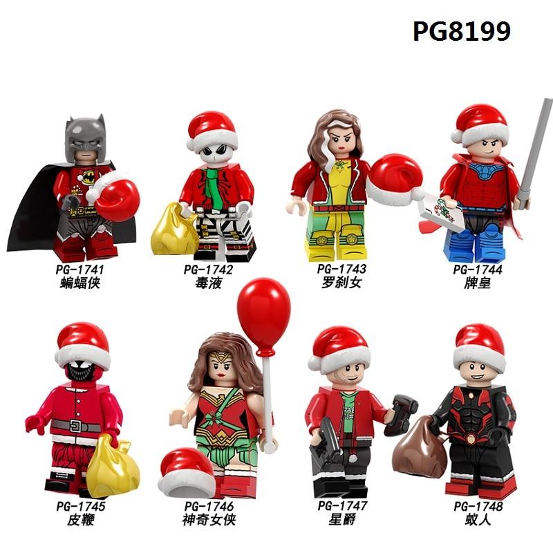 PG8199 Merry Christmas Model Super Heroes Batman Gambit Ramon Ant-man Venom Rogue Figures Building Blocks Children Gift Toys