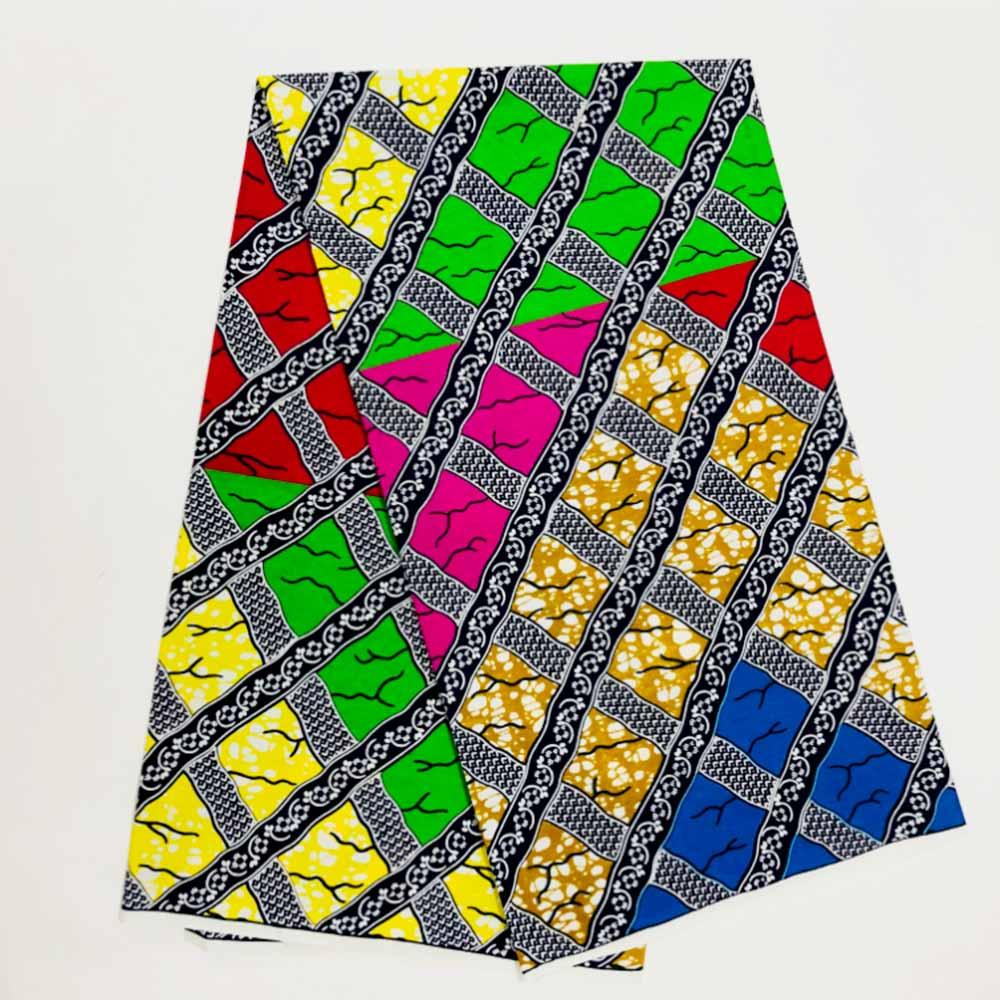 African Fabric Wax Veritable Cotton 6yard African Wax Print Fabric Ankara High Quality Real Veritable Dutch Wax Sewing Fabric