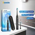 Vsmile Ультразвуковая электрическая зубная щетка для Зубная щётка 2200 мАч аккумулятор 80 дней на одной зарядке время работы 5 режимов 2 насадки д...