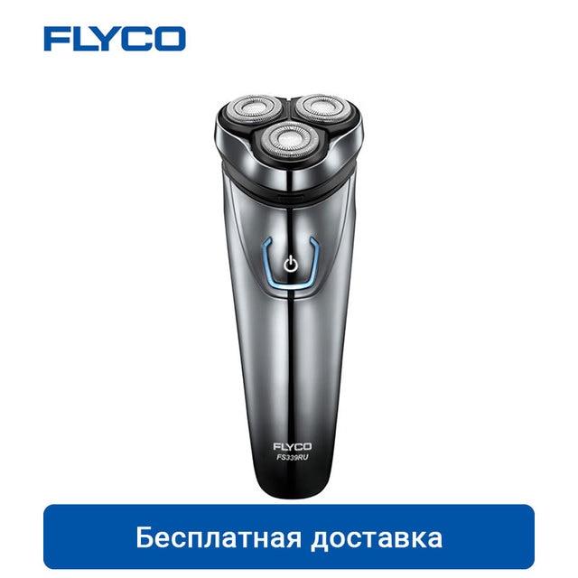 FLYCO FS339 электробритва для Для мужчин электрическая бритва IPX7 Водонепроницаемый 1 час перезаряжаемый моющийся Ротари