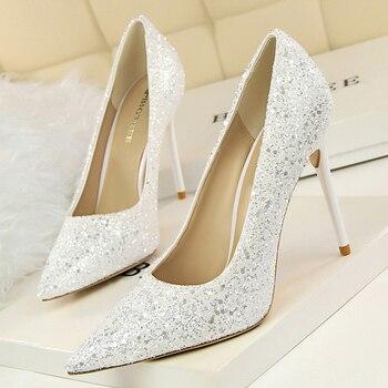 9.5cm High Heels Glitter Scarpins Pumps  4