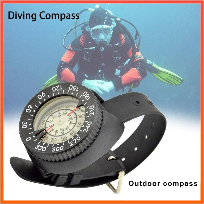 Professional Diving Compass High Precision Portable Scuba Wristband 50M 164 Feet Navigation Gauge Standard Scan Module