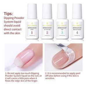 Image 5 - BORN PRETTY trempage ongles poudres dégradé français ongles couleur naturelle holographiques paillettes sans lampe Cure Nail Art décorations