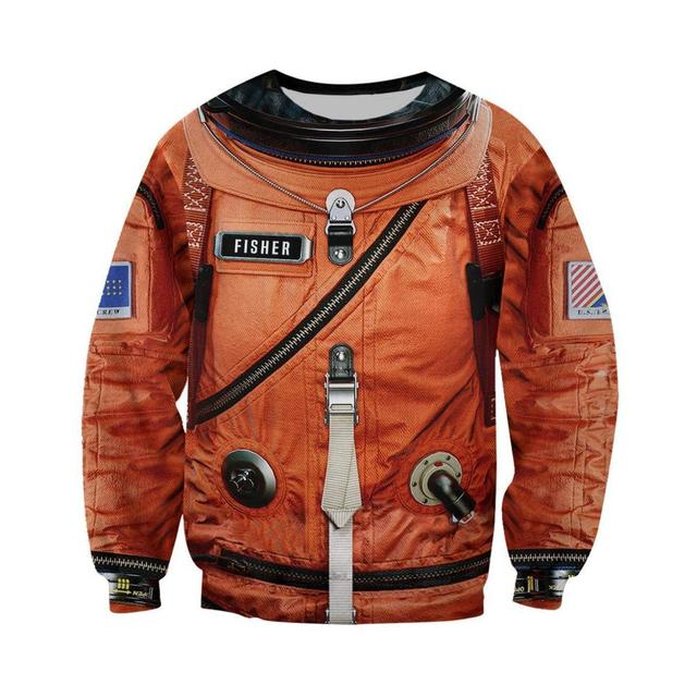 Space Suit 3D All Over Printed Mens Hoodie Harajuku Streetwear Pullover Cosplay costume Unisex Casual Jacket Tracksuit DW0147 2
