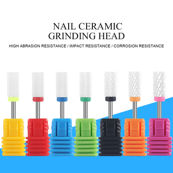 1pc Nail Ceramic Grinding head Nail Drill Bits 29 Types Nails Milling Cutters For Electric Machine Polishing Sanding Manicuring
