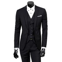 WENYUJH 2019 New 3 Piece Men's Fashion Slim Suits Men Business Casual Clothing Suit Men Blazers Jacket Trousers Vest Sets S-3XL