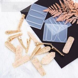 2020 новая форма для заколки для волос, формы для уф смолы, формы для самостоятельной геометрической шпильки, силиконовая форма для рукоделия ...