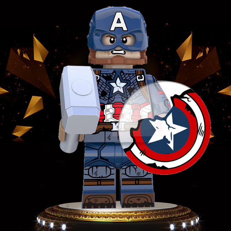 Legoing Captain America Steve Rogers Falcon Sam Avengers Endgame Marvel Building Blocks Minifigured Child Gifts Toys XP228