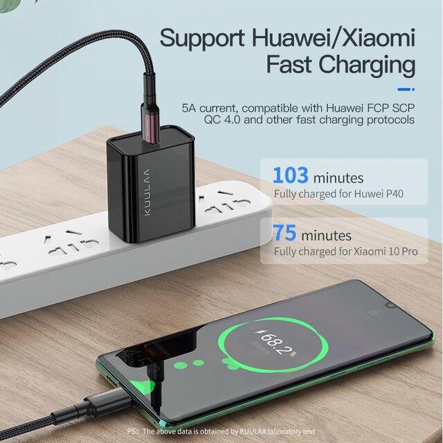100W 5A USB Typ C Kabel Für Huawei P40 Pro Mate 30 P30 Pro Schnelle Lade USB-C Schnell Ladegerät kabel Für Xiaomi Redmi USB-C Kabel