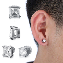 Punk Magnetic Stud Mens Womens Earrings Cool New Magnet Ear Jewelry Lin