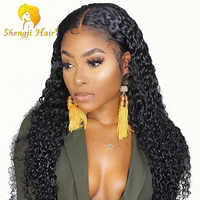 4.5 Inch 360 Lace Frontal Wig Pre Plucked With Baby Hair Brazilian Human Hair Wigs For Black Women Shengji Remy Hair Curly Wig