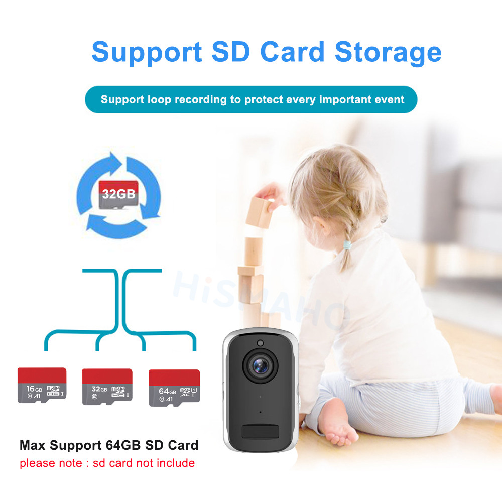 Image 5 - 1080P HD WiFi IP Camera Outdoor Wireless Security Battery Charge Camera Audio Surveillance CCTV PIR Motion Detection SD Card-in Surveillance Cameras from Security & Protection