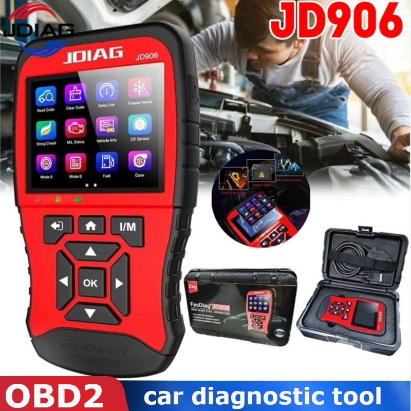 JDiag OBD2 For 12V Gasoline Car Fault Diagnostic Tool Auto Analyzer Battery Test Scanner Eraser Automotive Scania Code Reader