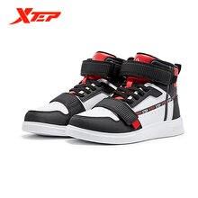 Зимняя детская спортивная обувь xtep высокие туфли на плоской
