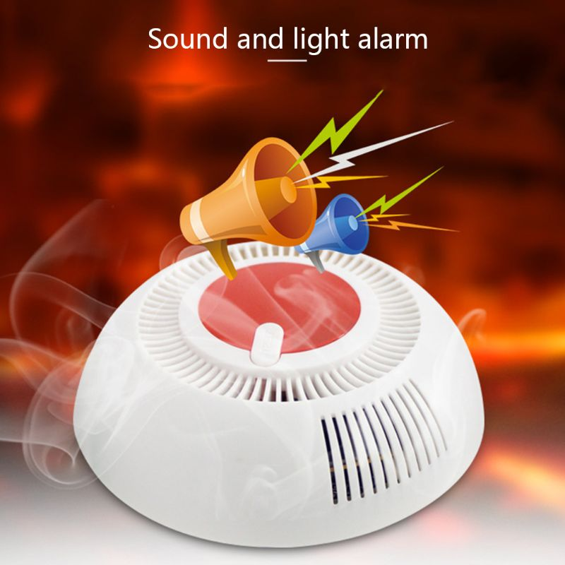 Independent Smoke Fire Alarm Home Security Wireless Smoke Detector Alarm 28TE