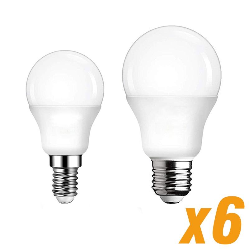 6PCS Lampada LED Lamp E27 E14 Light Bulb 3W 6W 9W 12W 15W 18W 20W 220V 240V Spotlight Table Lamp Livingroom Light