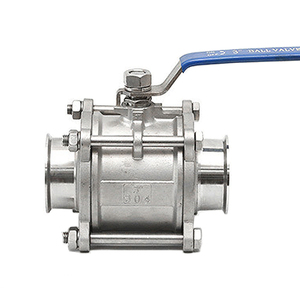 """Image 4 - 1/2"""" 3/4"""" 1"""" SS304 Stainless Steel SS316 Sanitary Ball Valve 3 Three Piece 1.5"""" 50.5mm Tri Clamp Ferrule Type For Homebrew Diary"""