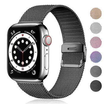 Milanese strap For Apple watch 6 band 44mm 40mm iWatch band 42mm 38mm Metal Stainless steel bracelet for Apple Watch 5 4 3 2 SE replacement watch band for apple watch series 4 1 3 2 band bracelet strap for iwatch 42mm 38mm 40mm 44mm stainless metal band