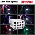 Быстрая доставка 8 шт./лот Красочные бабочки DJ свет для дискотеки хороший эффект использовать для дома развлечения вечерние ночной клуб KTV т...