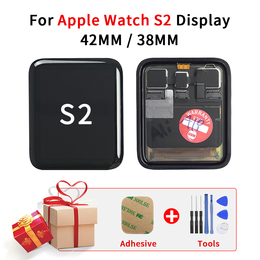 Sinbeda For Apple Watch Series 2 LCD Display 380mm 42mm For Apple Watch 2 S2 Gen 2 LCD Touch Screen Sport / Sapphire Digitizer