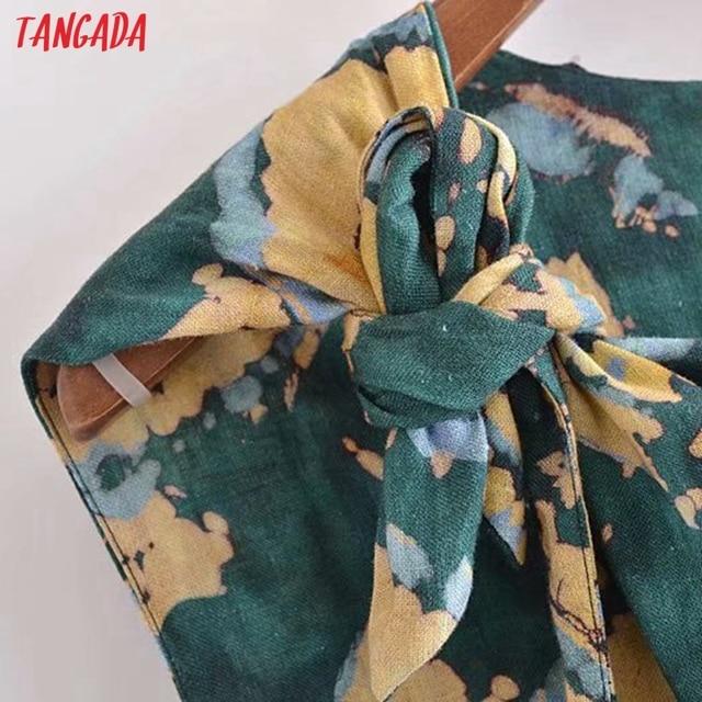 Tangada 2021 Fashion Female Tie Dyed Print Long Tank Dresses for Women 2021 Female Casual Beach Dress 3H540 3