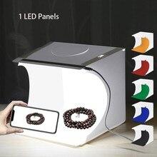 Dual LED Panels Folding Portable Photo Video Box Lighting Studio Shooting Tent Box Kit Emart Diffuse