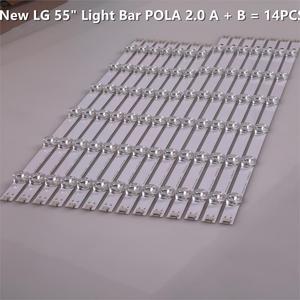 "Image 3 - 12 Lampen Led Backlight Strip Voor Lg 55LA616V 55LA6200 55LA6205 55LA6208 55LA620S Za Ua Bar Kit Televisie Led Band pola 2.0 55"""