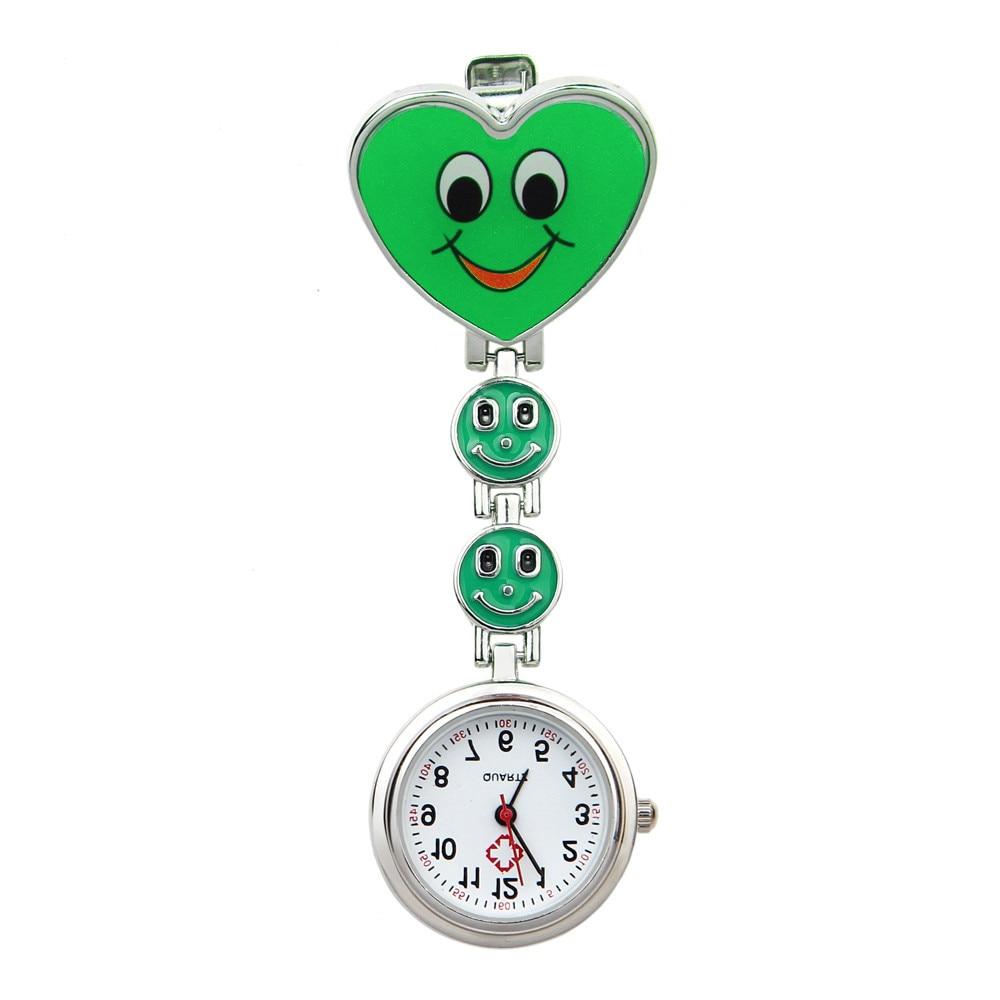 Heart Shape Quartz Movement Nurse Brooch Fob Tunic Pocket Watch Watch Clock Wholesale Relogio De Bolso #4O15