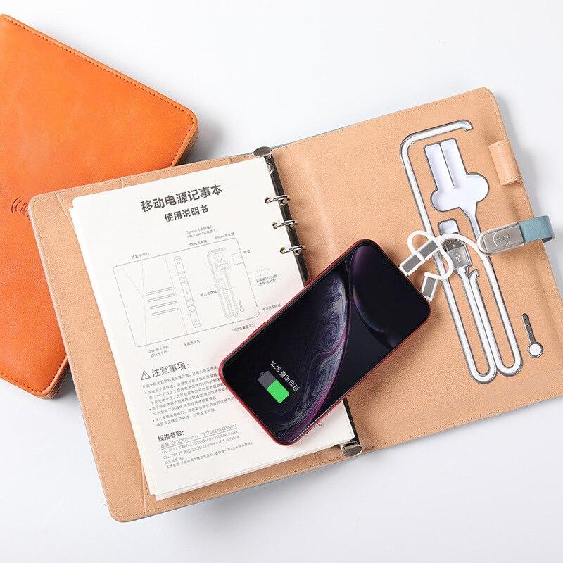 New multi-function wireless Charging Notepad Usb charging Notebook Business Gift set custom logo cuaderno inteligente смарт блок