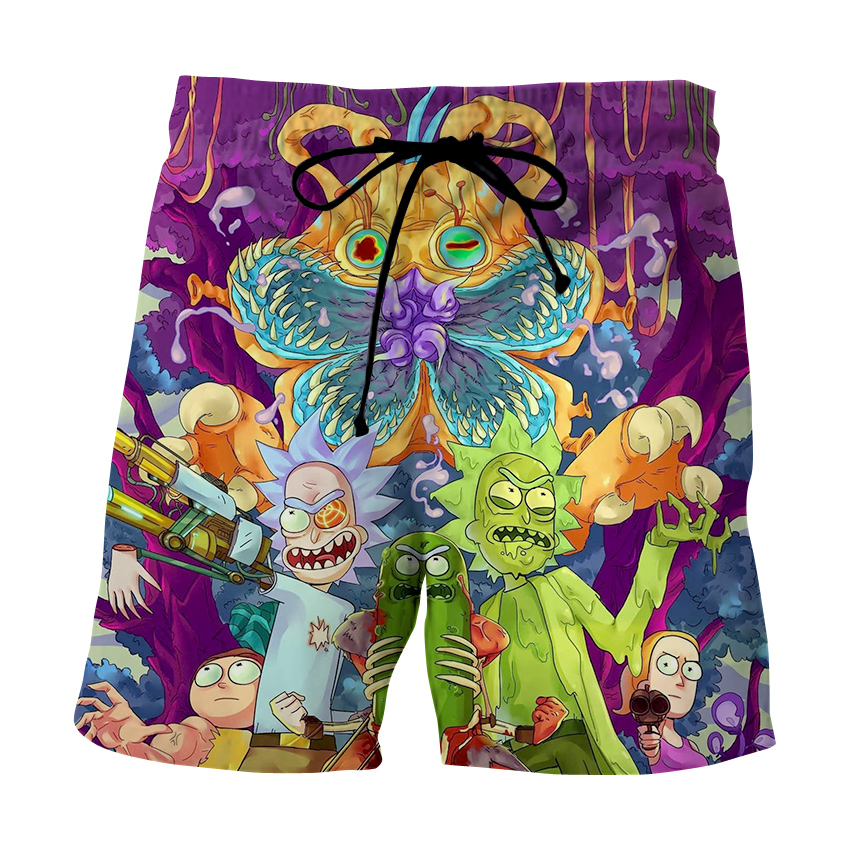 Men Clothes 2020 Brand Casual Unisex Rick And Morty 3D Print Shorts Summer Breathable Cartoon Body Beach Shorts Dropping