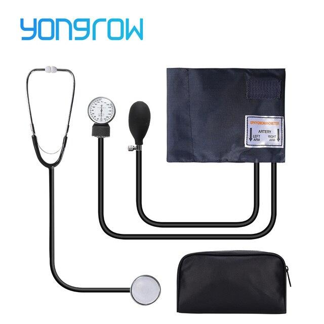Yongrow ידני לחץ דם צג למדוד סטטוסקופ שימוש רופא סיסטולי דיאסטולי מד לחץ דם בריאות בית מכשיר קאף