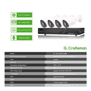 Image 2 - Система видеонаблюдения Sony IMAX415 H.265, 4 канала, 4K POE, 8 каналов, уличный водонепроницаемый видеорегистратор, IP камера с аудио и сигнализацией, p2p