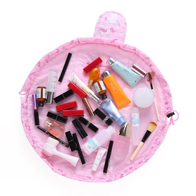 Flamingo cosmetics storage bag skincare women jewelry lipstick eye shadow brush drawstring bag family bathroom tissue supplies 1