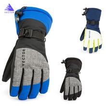Очень толстые лыжные перчатки из искусственной кожи для пальмовых лыж зимние уличные спортивные женские мужские теплые мотоциклетные ветрозащитные водонепроницаемые сноуборд