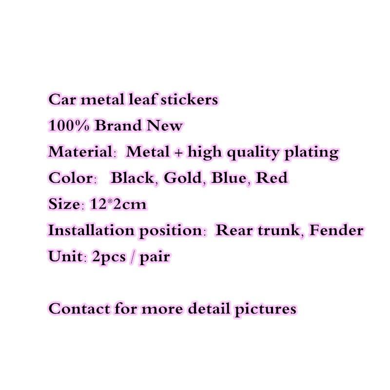 【Hot】 2pcs/paire 12cm * 2cm haute qualité métal placage voiture emblème TRD arrière queue Badge autocollant Logos noir doré bleu rouge