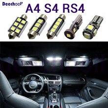 Nguyên Chất Ô Tô Bóng Đèn LED Cho Xe Audi A4 S4 RS4 B5 B6 B7 B8 Xi Nhan CANBUS Led Nội Thất Bản Đồ Dome Trên Cao + Biển Đèn
