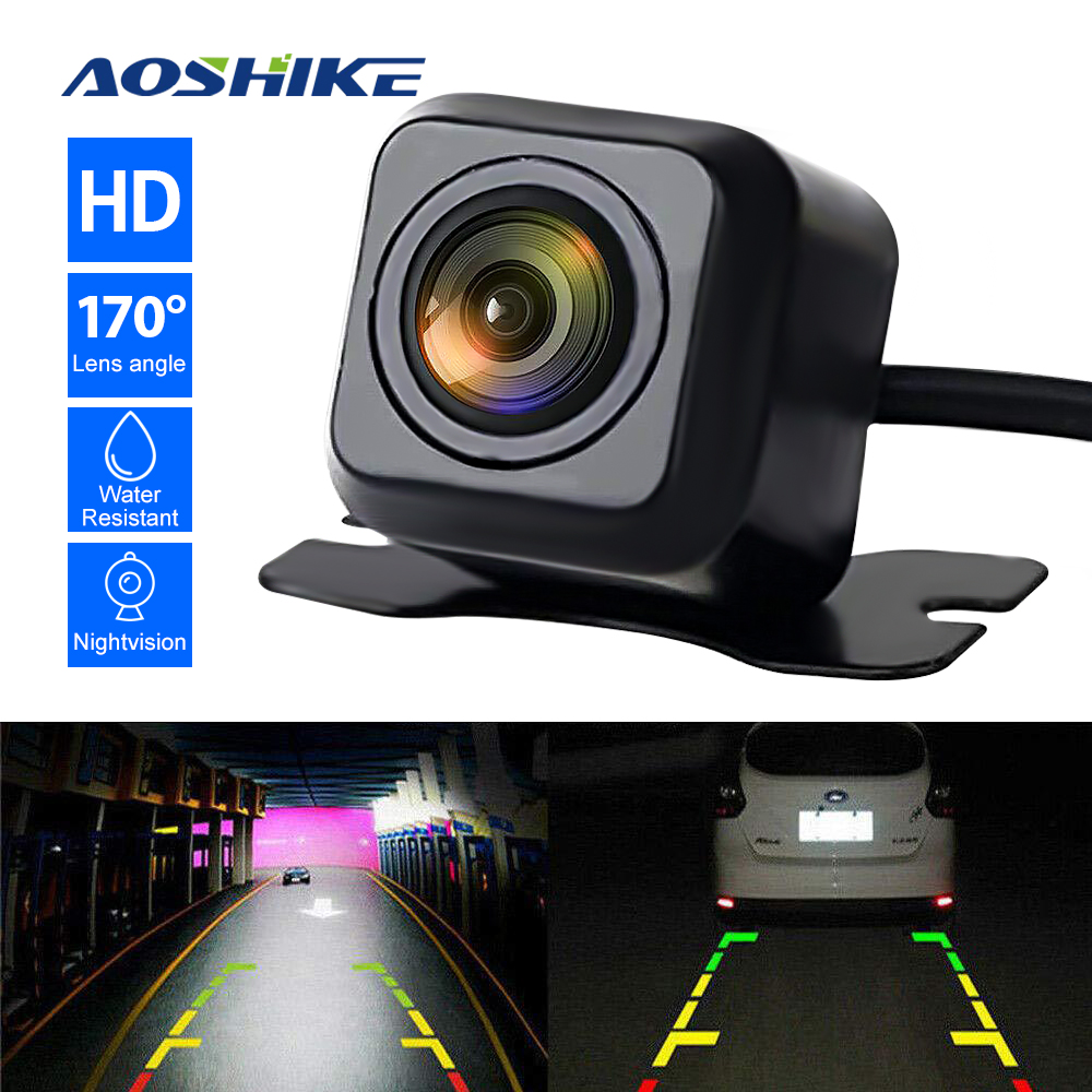 AOSHIKE Car Reverse Camera 120 Degree IP67 WaterProof Night Vision Rear View Camera Parking Camera 12V NTSC 2020 Hot Sale