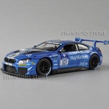 1:24 الحرة مصل عالية ضوء الرياضة سباق السيارات لعبة مجسمة دييكاست سبيكة معدنية M6 GT3 نسخة مصغرة