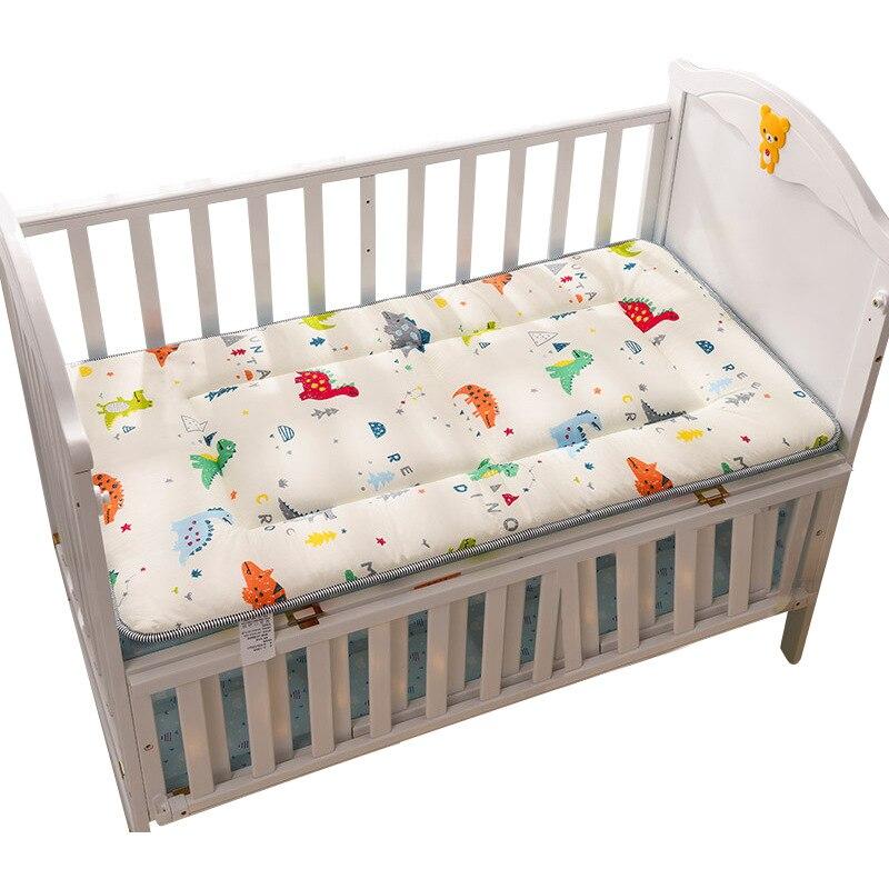 Crib Mattress Toddler Bed Mattress Pad Double Sides Cotton Mesh Baby Bedding Set  Boys Girls Infant Bed Set 120x60cm