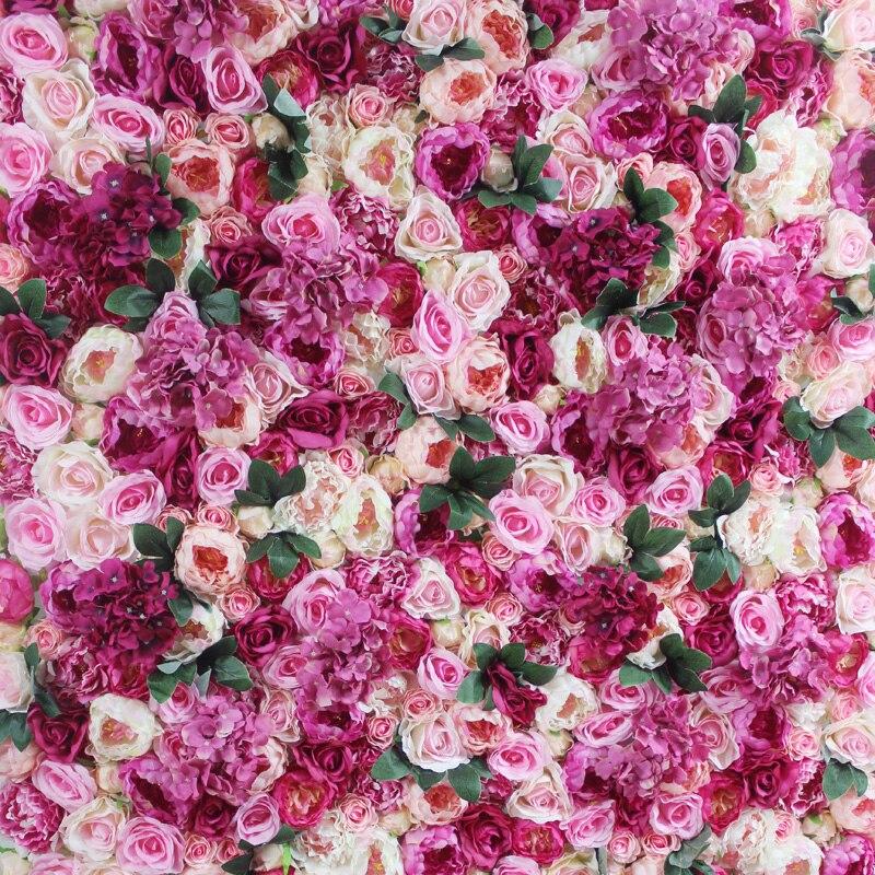 SPR 4ft * 8ft закатать цветок из текстиля стены искусственная Роза случай фон цветочный орнамент украшения Бесплатная доставка - 6