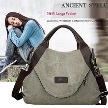 Новые повседневные женские сумки через плечо с большим карманом, холщовые сумки-тоут, сумки на плечо, сумочки