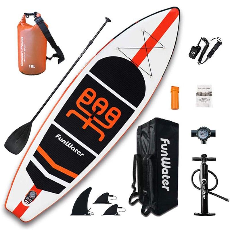 Planche de Surf gonflable Stand Up planche de Surf Sup-Board Kayak Surf set 11'x33''x6''avec sac à dos, laisse, pompe, sac étanche