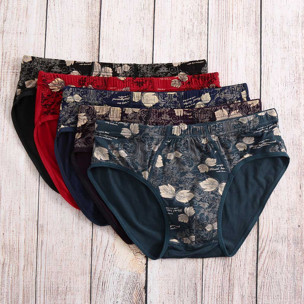 men's underwear cotton comfortable boxer jockstrap 5PC Men's Printed Color Underwear Soft Breathable Knickers Short Sexy