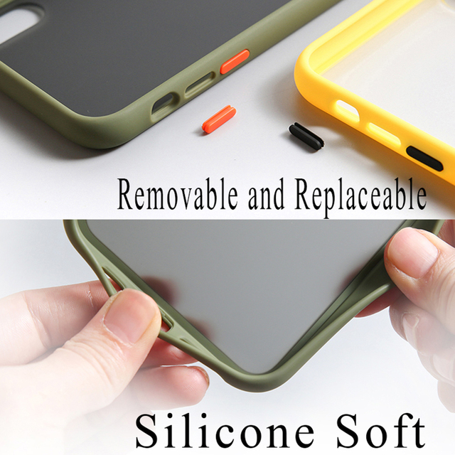 Mint Simple Matte Bumper Phone Case for iphone 11 Pro XR X XS Max 12 6S 6 8 7 Plus Shockproof Soft TPU Silicone Clear Case Cover 5