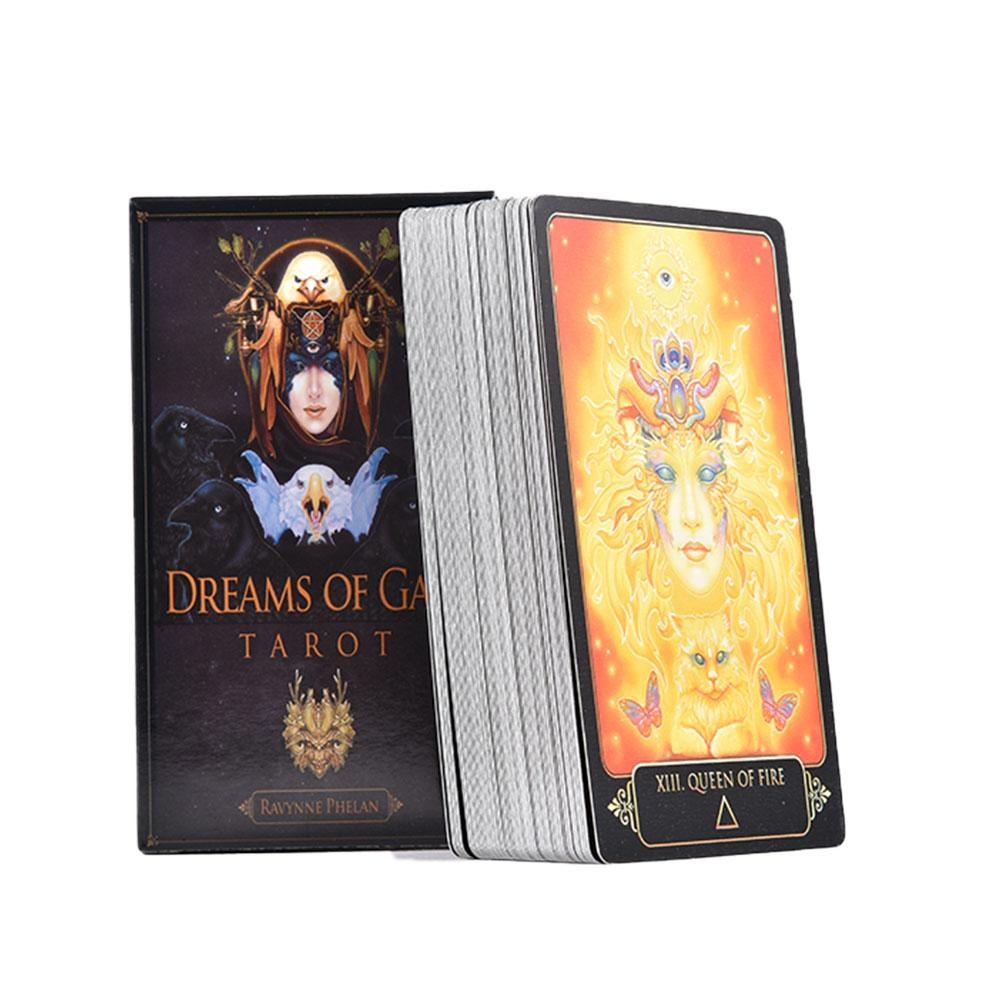 Tarot Cards Dreams Of Gaia Tarot Divination Desk Game Playing Card Tarot Board Game Family Party Playing Card Game Set 81 Sheets